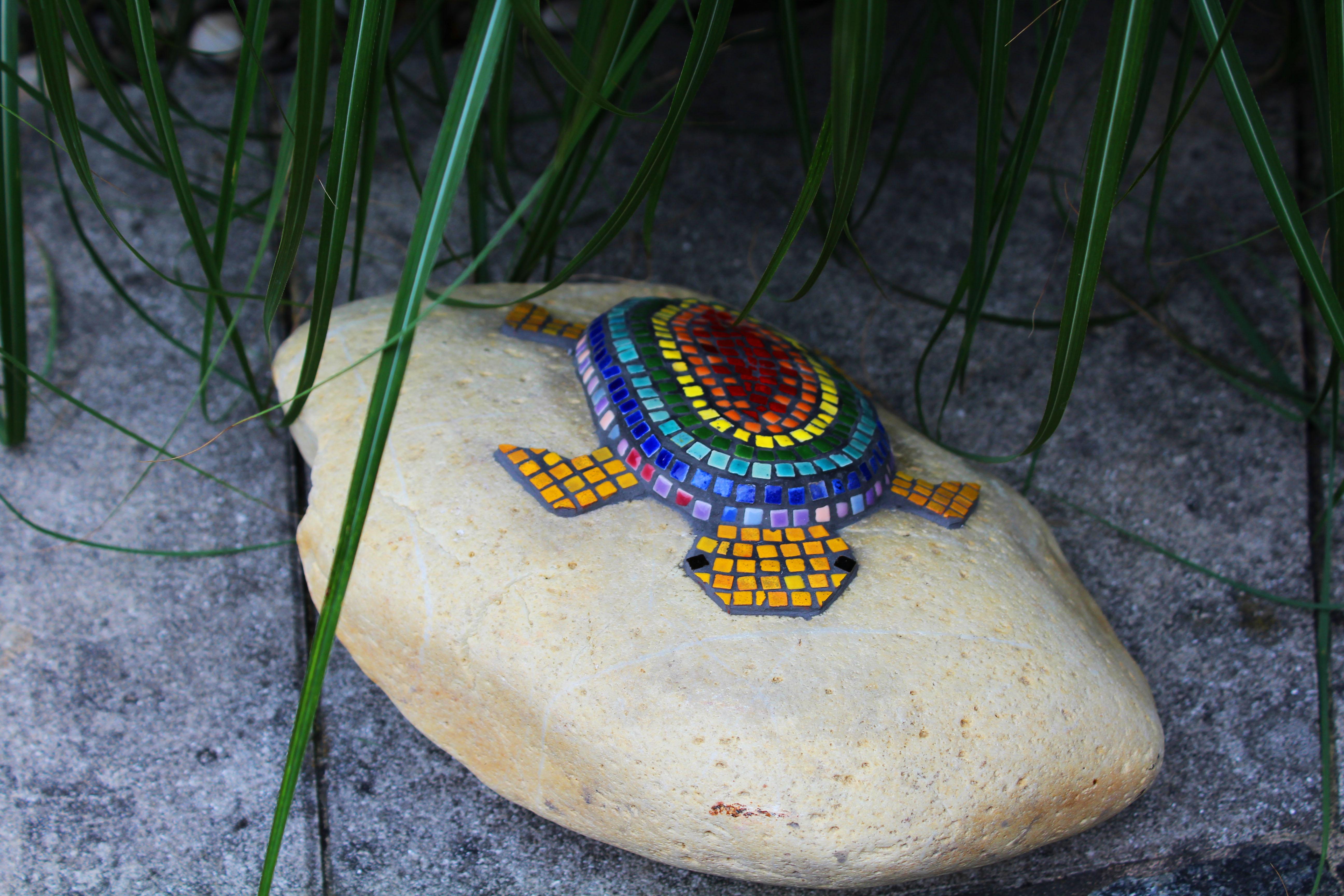 Mosaik Schildkröte Regenbogen1