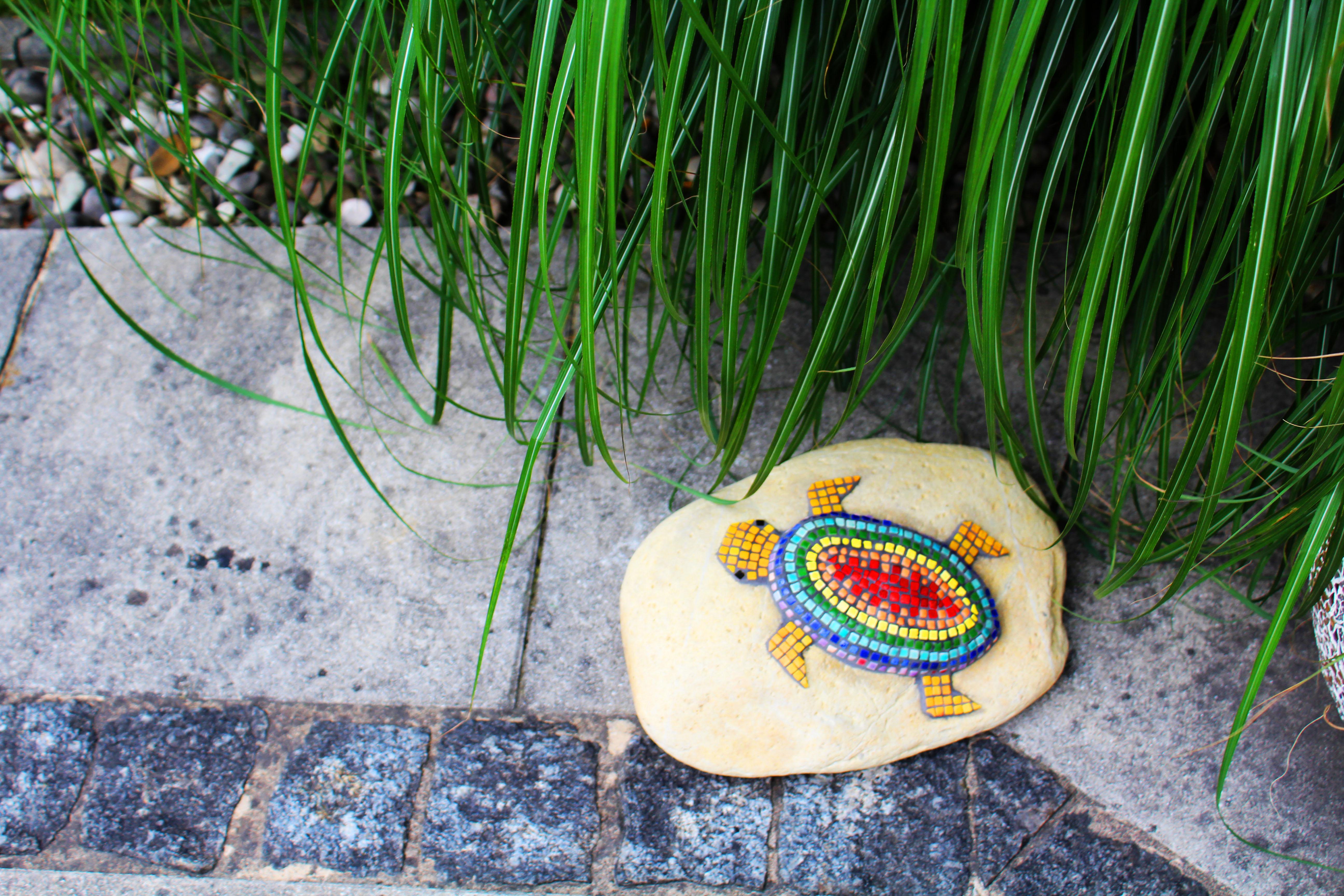 Mosaik Schildkröte Regenbogen4