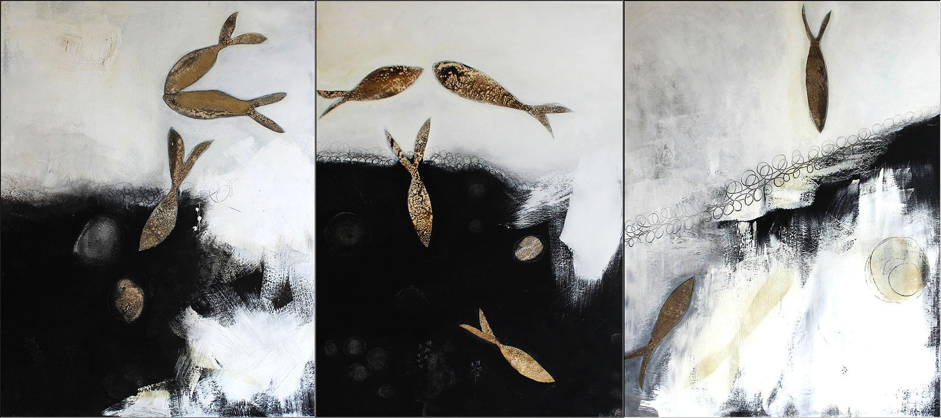 Abstrakte Kunst Bitte zu Tisch Cornelia Hauch